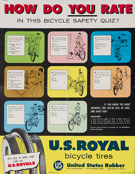 How Do You rate Original American 1950s Bicycle Shop Poster