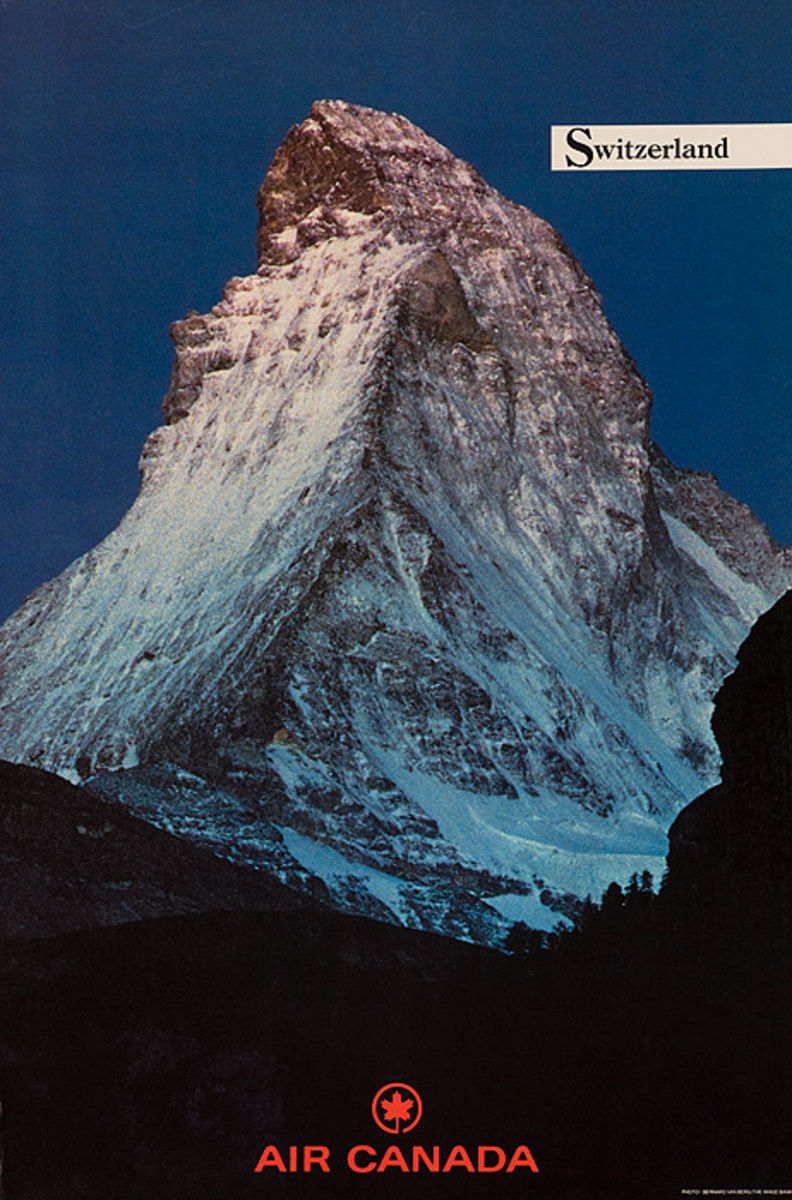 Air Canada Original Travel Poster Switzerland Matterhorn