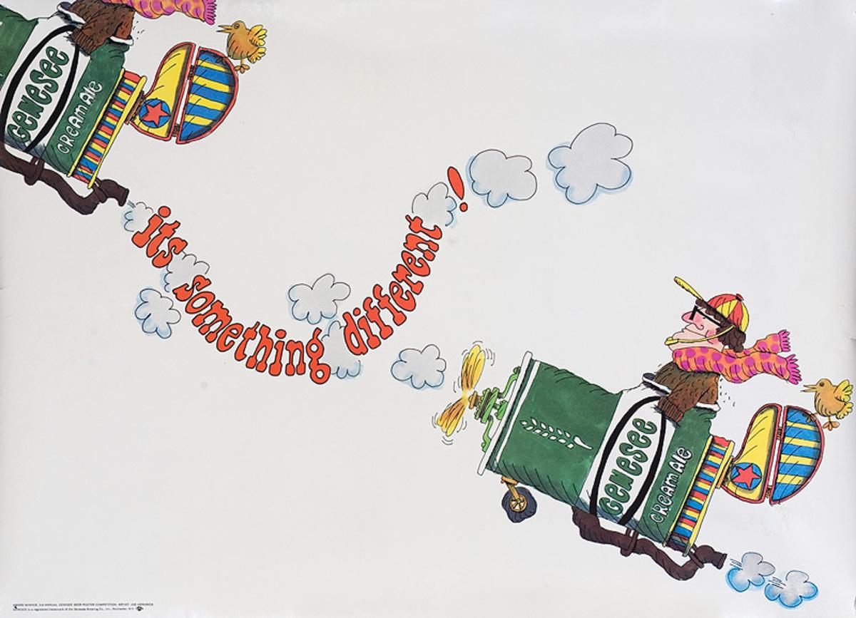 Something Different Original Genesee Beer Advertising Poster