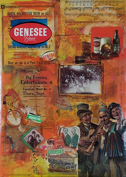 Genesee Beer Original Advertising Poster music