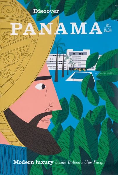 Discover Panama Original Travel Poster
