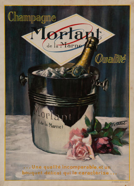 Champagne Morlant Original Vintage French Advertising Poster