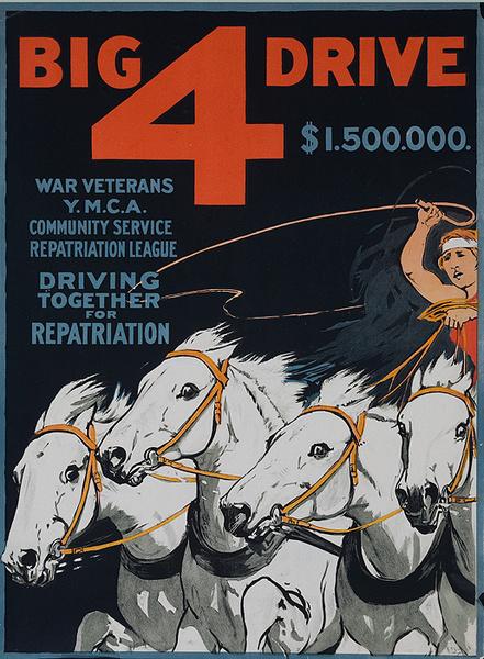 Big 4 Drive Original Canadian WWI Fund Raiser Poster