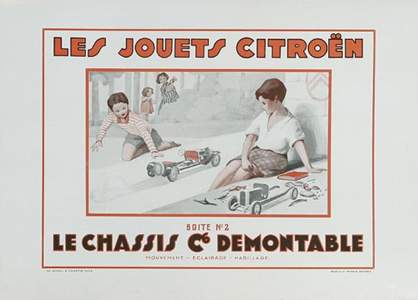 Citroen Car Toys Original Vintage Advertising Poster