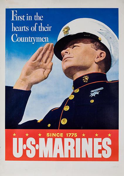 U S Marines First In The Hearts of Their Countrymen Original Vietnam Era War Recuruiting Poster