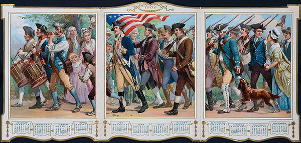 Original 1906 Historical American Calendar Fife and Drum