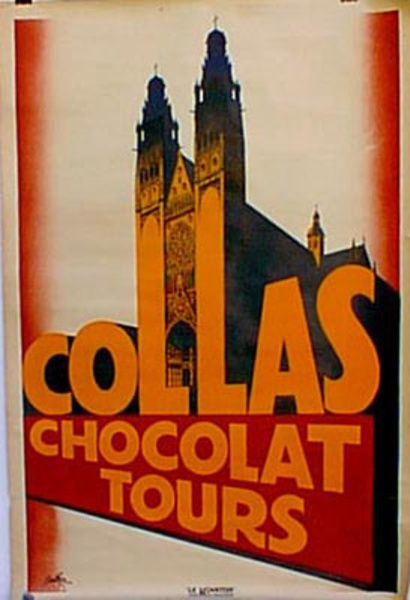 Collas Chocolate Original Vintage Advertising Poster