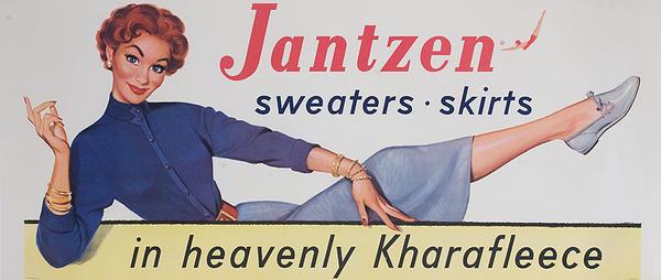 Jantzen Sweaters Skirts Original American Advertising Poster