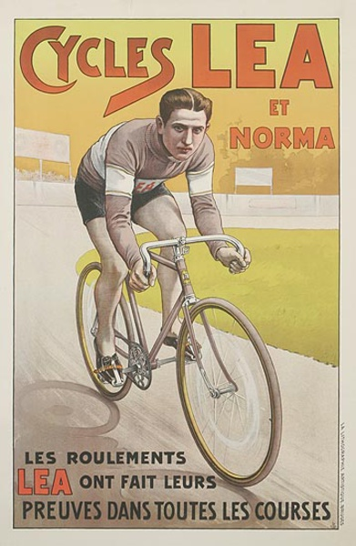 Cycles Lea Original Vintage Advertising Poster