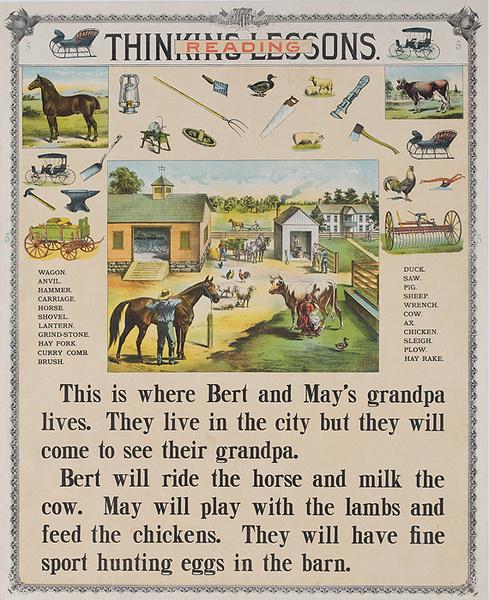Thinking Lessons Original Schoolhouse Teaching Poster