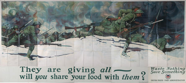 They are Giving All, Will You Share Your Food Original American WWI Home Front Poster