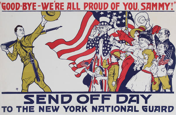 Send Off Day Good-Bye We're All Proud of You, Sammy! Original WWI Home Front Poster