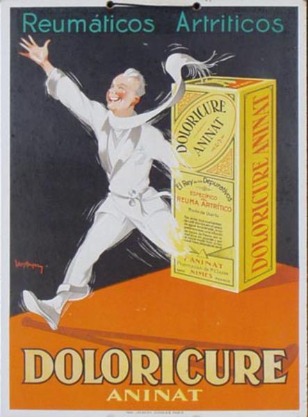 Doloricure Aninat Pantent Medicine Original Advertising Poster