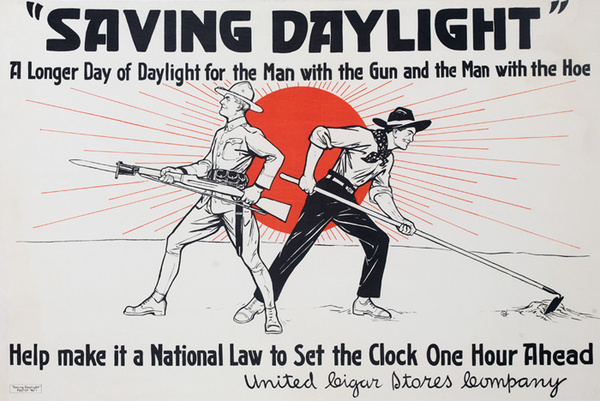 Saving Daylight A Longer Day Original American WWI Homefront Poster