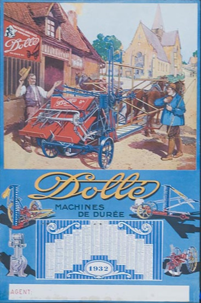 Original French Dolle Tractor Advertising Poster