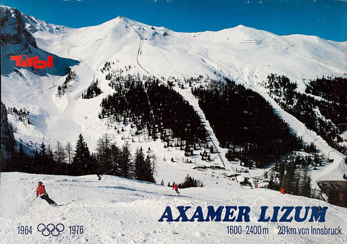 Axamer Lizum Original Austrian Ski Travel Poster