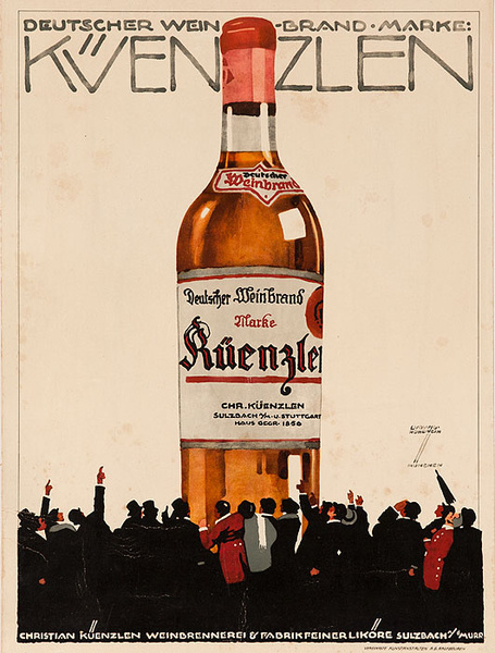Kuenzlen Wine Original German Advertising Poster