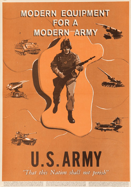 Modern Eqipment for a Modern Army Original Recruiting Poster