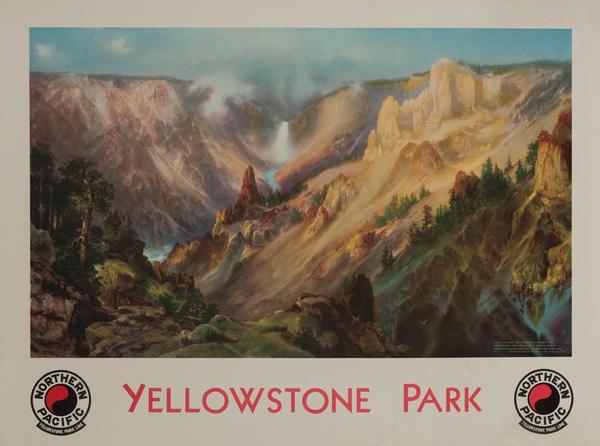 Northern Pacific Rail Line Yellowstone Park Original Travel Poster