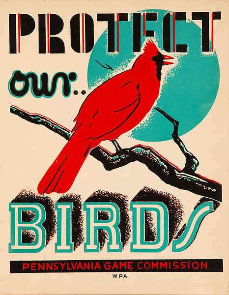 Protect Our Birds Original Pennsylvania Game Commission WPA Poster