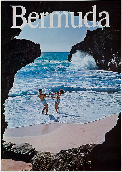 Original Bermuda Travel Couple on Beach Dancing