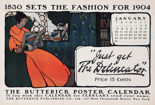 Butterick Set Fashion for 1904, The Delineator Original American Literary Poster