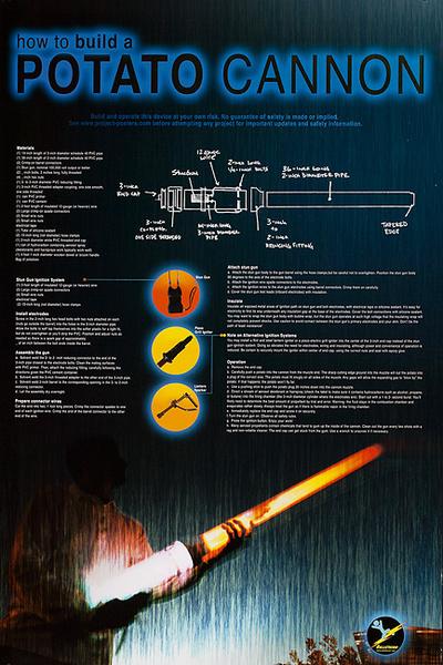 How to Build a Potato Cannon Original American Poster
