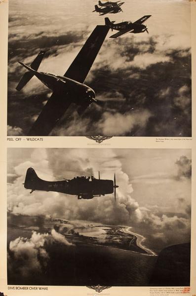 Original WWII US Navy Poster Peel Off - Wildcats