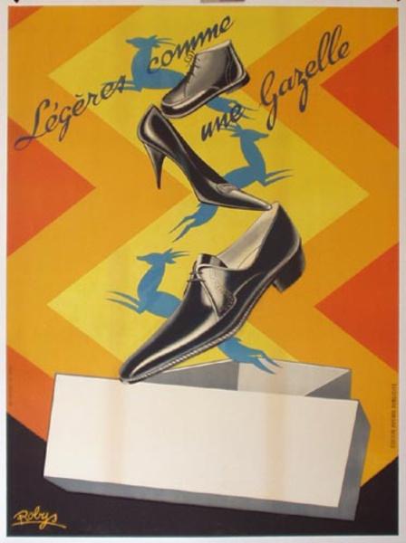 Gazelle Shoes Original Vintage Advertising Poster