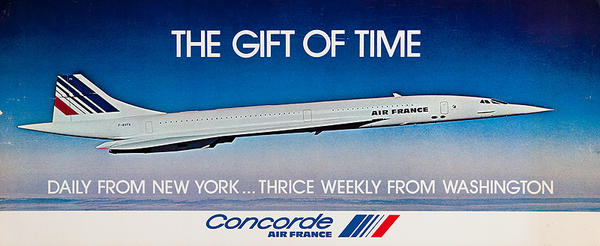 The Gift of Time Original Air France SST Travel Poster