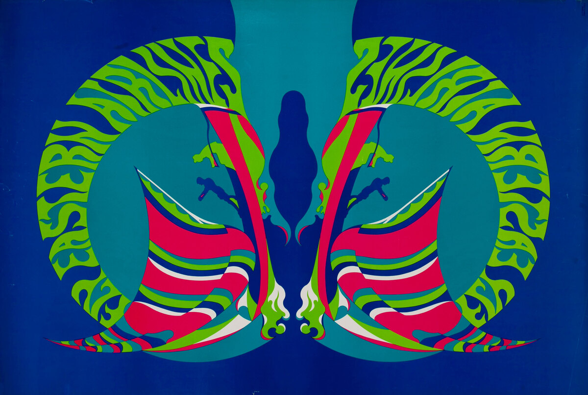 Eastern Airlines Travel Poster Psychadelic Windsurfer