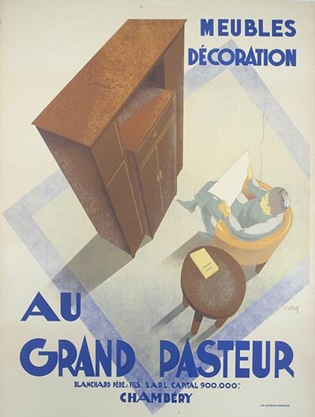 Gran Pasteur Furniture Original Vintage Advertising Poster