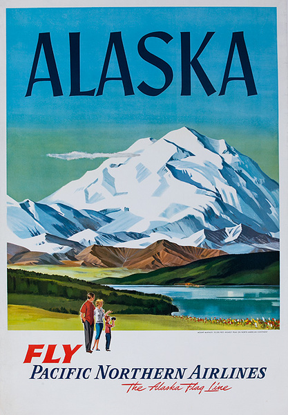 Fly Pacific Northern Airlines Original Travel Poster