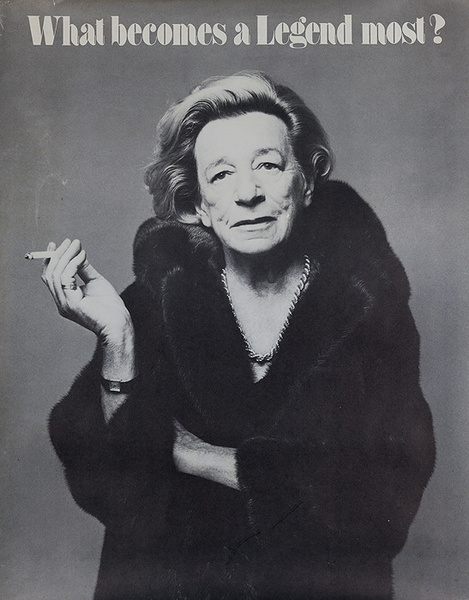 Blackglama Fur, What Becomes a Legend Most? Original Advertising Poster, Lillian Helman