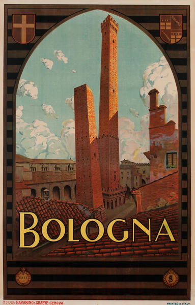 Bologna Italy ENIT Travel Poster