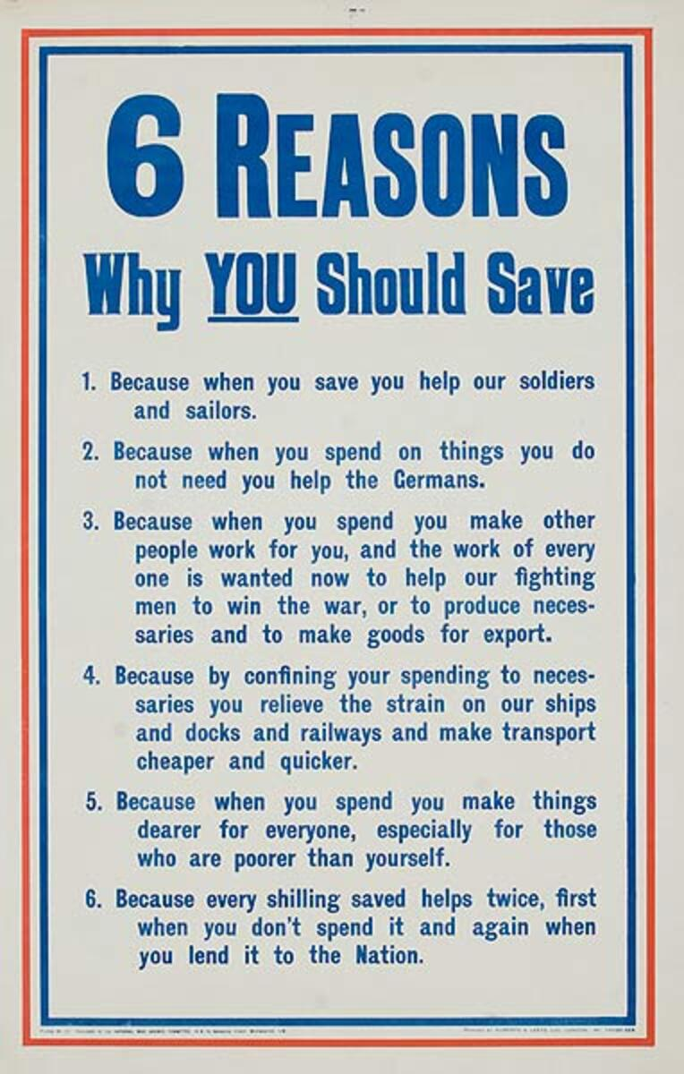 6 Reasons Why You Should Save Original British WWI Poster