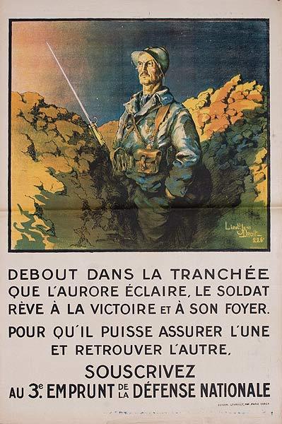 Debout Dans La Tranchee Original French WWI Poster