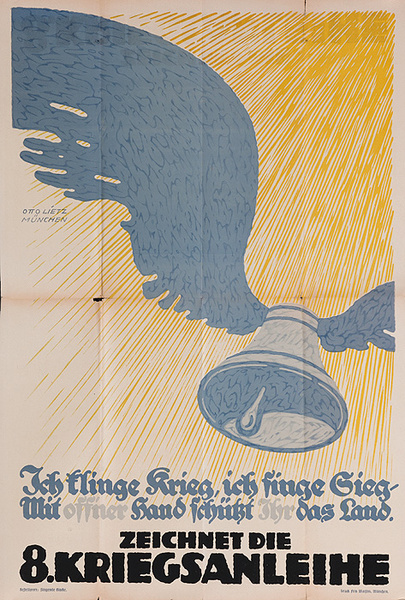 I Executed the War, the Eighth War Bond Original German WWI Poster
