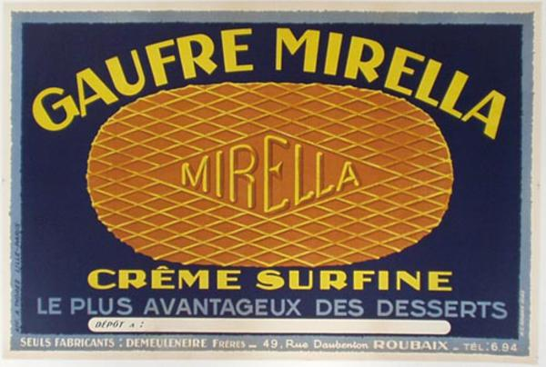 Bisquit Mirelle  Original Vintage Advertising Poster