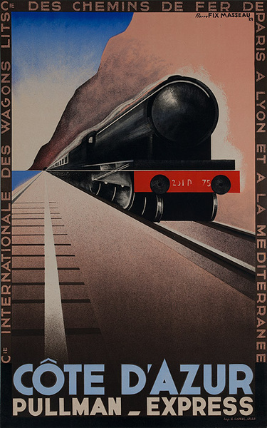 Cote D'Azur Pullman Express Original French Travel Poster