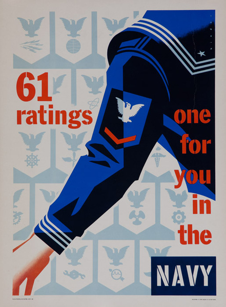 Original Korean War Era American Navy Recruiting Poster  61 Ratings