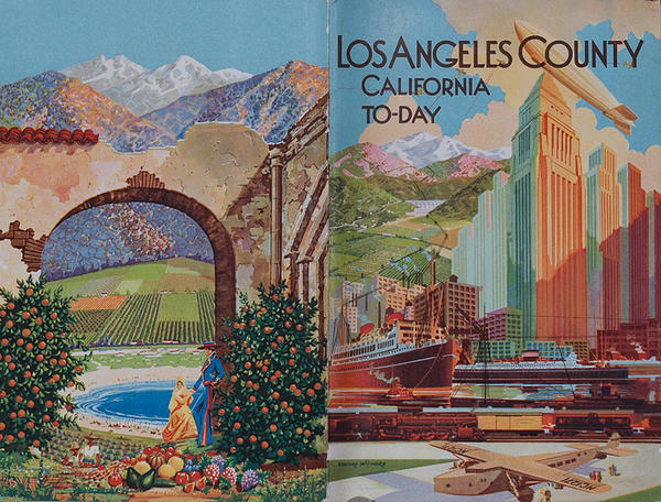 Los Angeles County To-Day Original Travel Brochure.