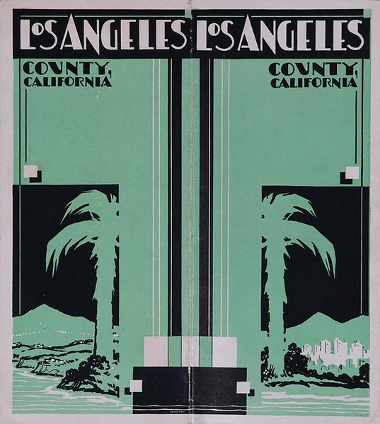 Los Angeles County California Original Travel Brochure