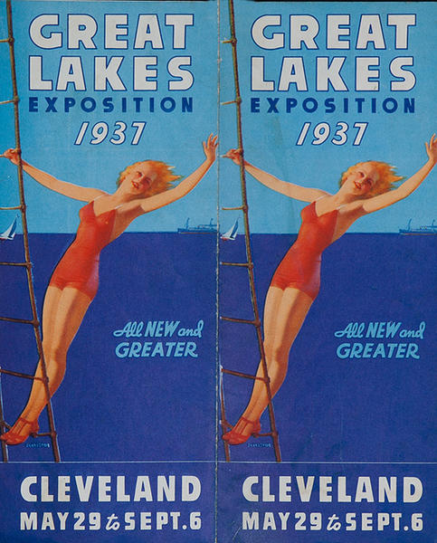 Original 1937 Great Lakes Exposition Travel Brochure