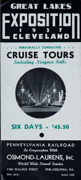 Original 1937 Great Lakes Exposition Travel Brochure B/W