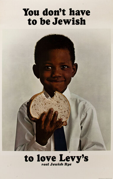 You Don't Have to Be Jewish To Love Levy's Rye Bread Original Advertising Poster African American