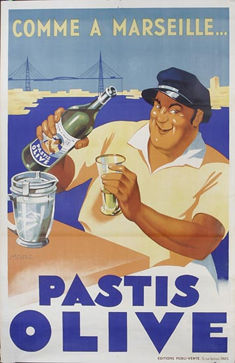 Pastis Olive Original French Advertising Poster