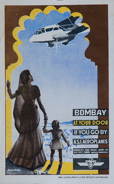 Bombay At Your Door ASI Aeroplanes Original Luggage Label