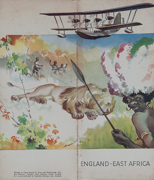 Original Imperial Air England - East Africa Travel Brochure