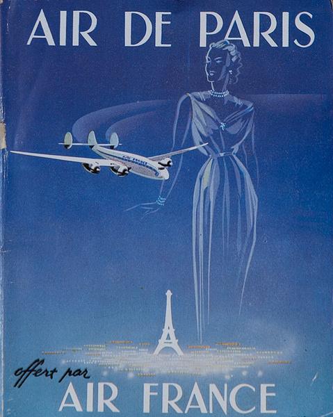 Original Air France Travel Brochure Paris